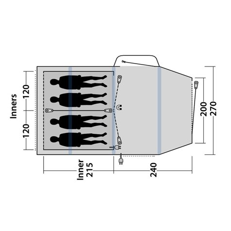 additional image for Outwell Rosedale 4PA Air Tent - New For 2020