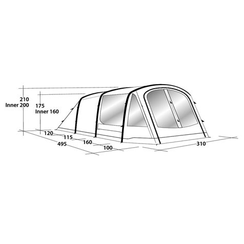 additional image for Outwell Rosedale 5PA Air Tent - New For 2020