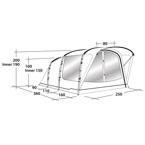 additional image for Outwell Franklin 3 Tent - 2020 Model