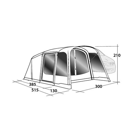 additional image for Outwell Blossburg 380 Air Driveaway Awning - New For 2020