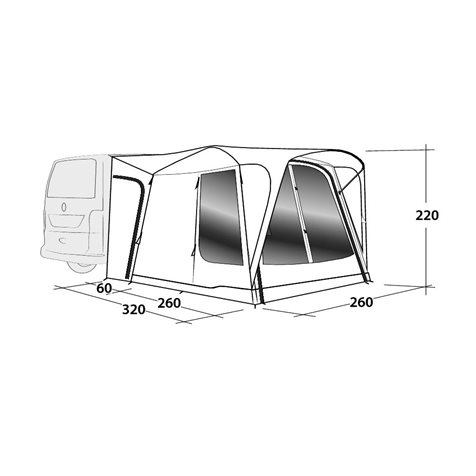 additional image for Outwell Milestone Shade Air Driveaway Air Awning - New For 2020