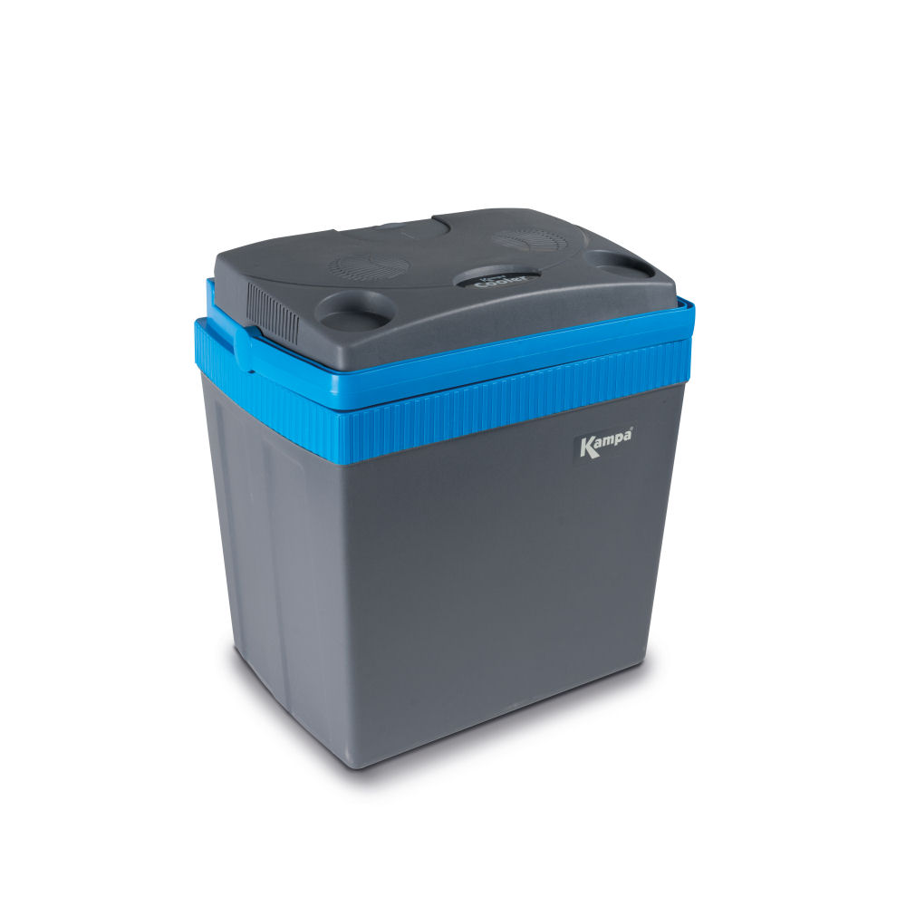 Kampa Cooler 25 Litre Thermoelectric 12V Cool Box Blue /& Grey