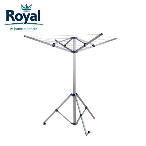 Royal 4 Arm Portable Aluminium Rotary Airer