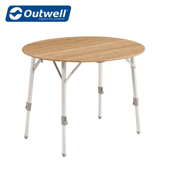 Outwell Custer Bamboo Table Round - New For 2021