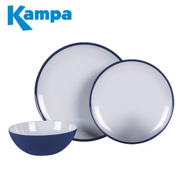 Kampa Midnight Blue 12 Piece Melamine Set - New For 2021