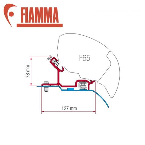 Fiamma F65 / F80 Adapter Kit - Ducato H3 After 2006