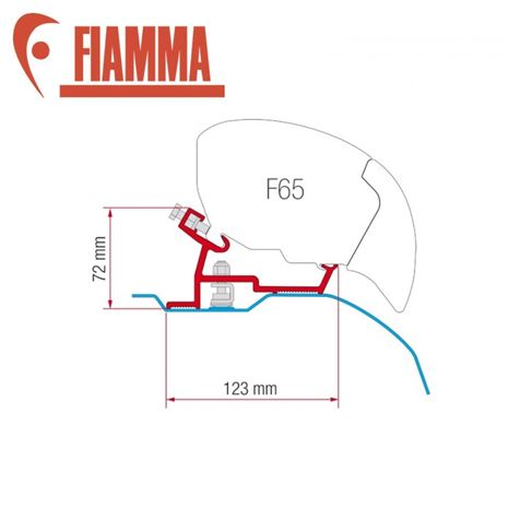 Fiamma F65 / F80 Adapter Kit - Ducato After 2006 High Roof Super Long