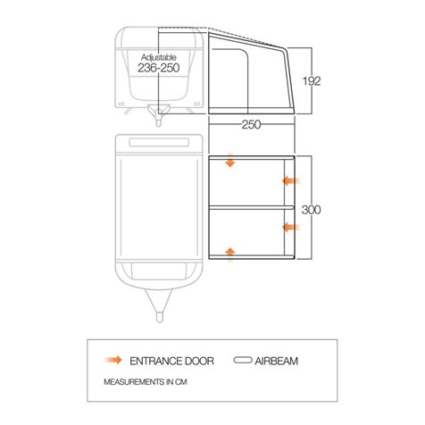 additional image for Vango Braemar III 300 Caravan Air Awning - 2020 Model