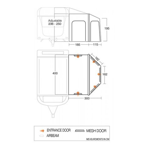 additional image for Vango Maldives 400 Caravan Air & Pole Awning - New For 2020