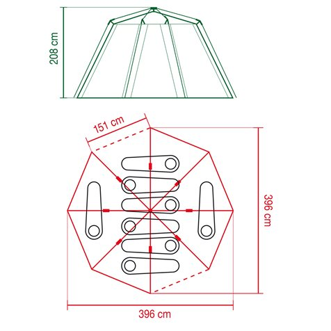 additional image for Coleman Cortes Octagon 8 Tent - 2019 Model