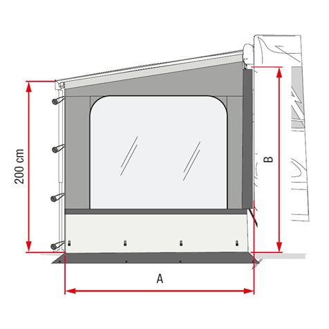 additional image for Fiamma Sun View Side Wall Pro