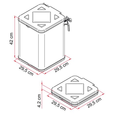 additional image for Fiamma Pack Waste Folding Dustbin