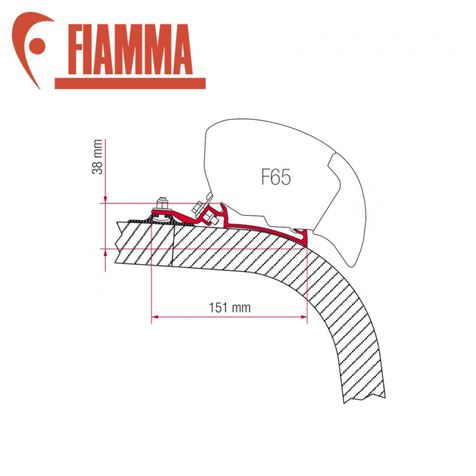 Fiamma F65 Awning Adapter Kit - Giottiline - Fendt