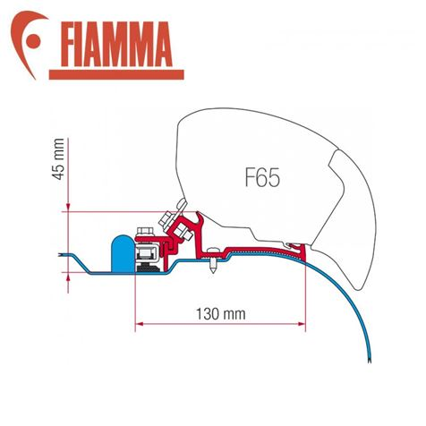 Fiamma F65 Awning Adapter Kit - Iveco Daily H2