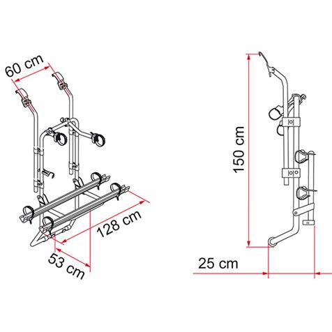additional image for Fiamma Carry-Bike Ford Transit Bike Carrier - 2020 Model