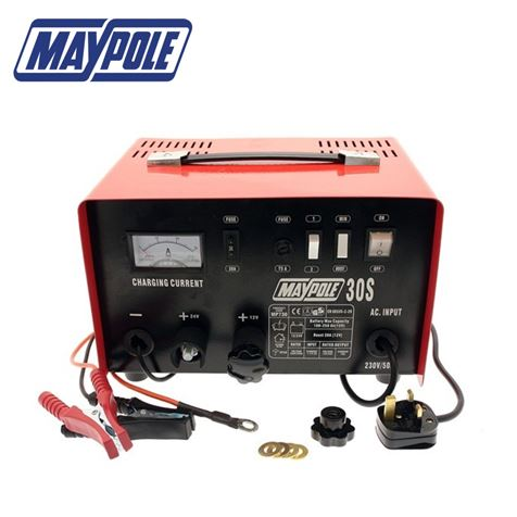 Maypole 20A Metal Heavy Duty Battery Charger