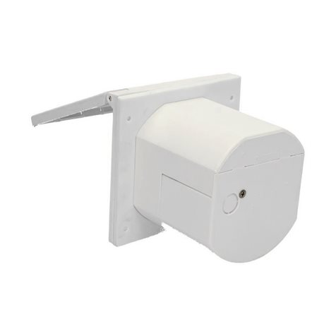additional image for Flush Fitting Mains Inlet Socket White