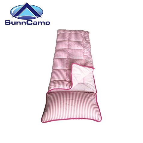 SunnCamp Pink Stripe Junior Sleeping Bag