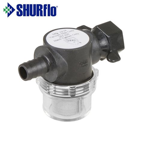 Shurflo Push On Barb Straight Inlet With Nut