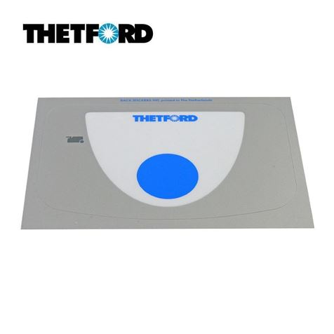 Thetford Control Panel Overlay Sticker C250