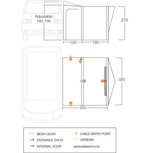 additional image for Vango Tolga Air VW Driveaway Awning - 2021 Model
