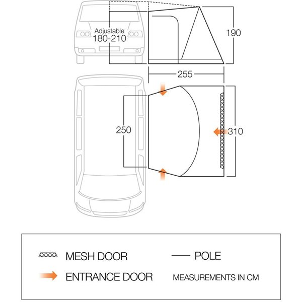 additional image for Vango Bondi Low Fixed Awning - 2021 Model