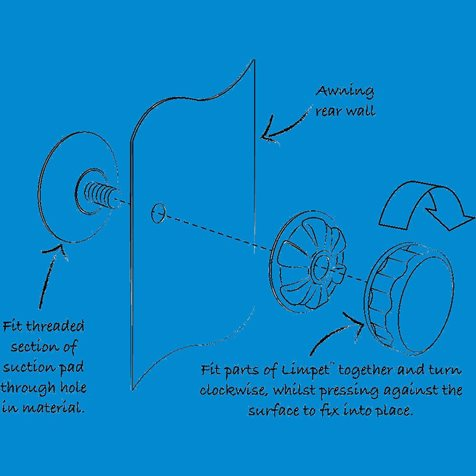additional image for Kampa Limpet Fix Kit (Pack of 8)