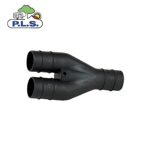 PLS Black 28.5mm Y Connector Caravan Waste Hose