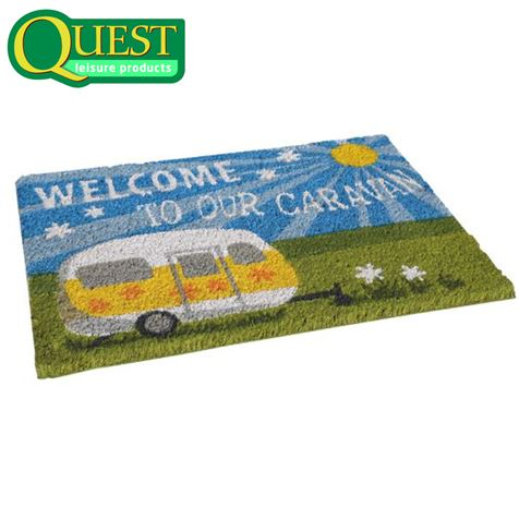 Welcome To Our Caravan Coir Entrance Mat