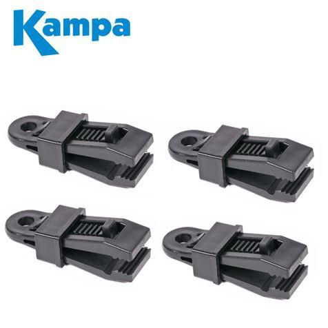 Kampa Tarpaulin & Material Clamps 4 Pack