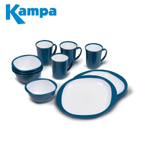 Kampa 12 Piece Dinner Set Blue