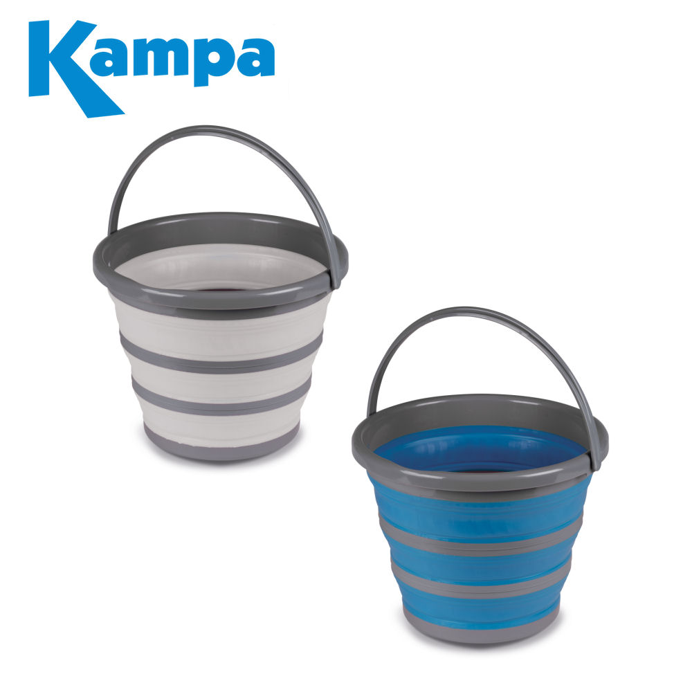 10 litre Blue Collapsible Pop-up Bucket Silicone For Boating Camping Home Handle