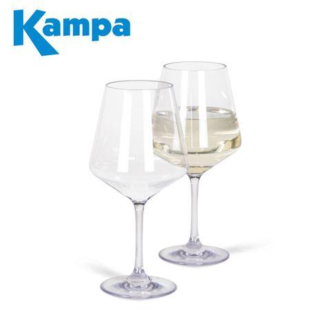 Kampa Pack of 2 Soho Polycarbonate White Wine Glasses