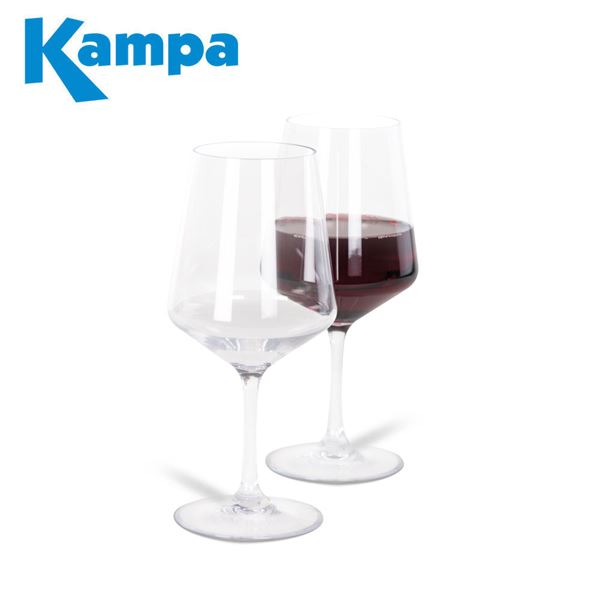 Kampa Pack of 2 Soho Polycarbonate Red Wine Glasses