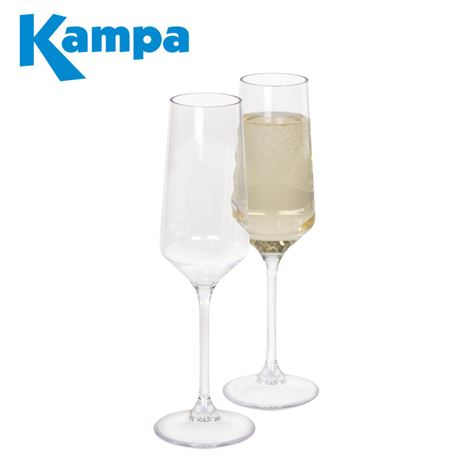 Kampa Pack Of 2 Soho Prosecco Flute Glasses