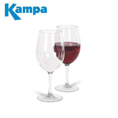 Kampa Pack of 2 Noble Polycarbonate Red Wine Glasses