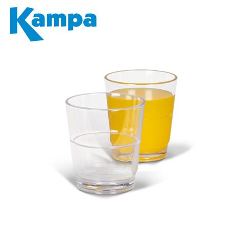 Kampa Pack Of 4 Stackable Tumbler Polycarbonate Glasses