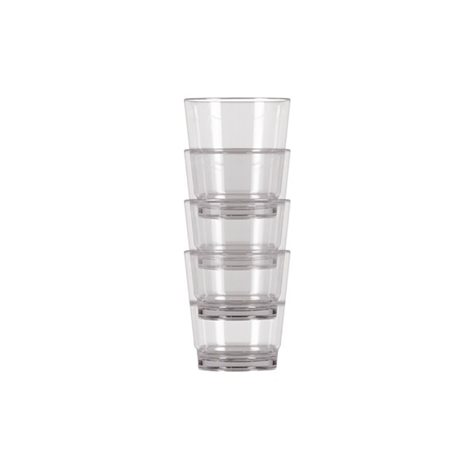 additional image for Kampa Pack Of 4 Stackable Tumbler Polycarbonate Glasses
