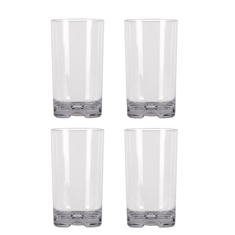 additional image for Kampa Pack Of 4 Tall Tumbler Polycarbonate Glasses