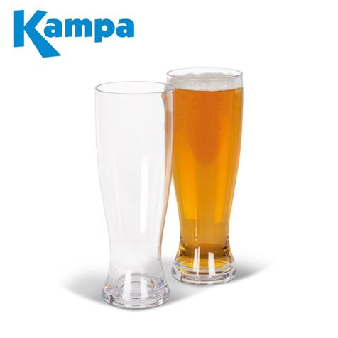 Kampa Pack Of 2 Polycarbonate Beer Glasses