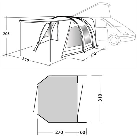 additional image for Easy Camp Shamrock Driveaway Tunnel Awning 2019 Model