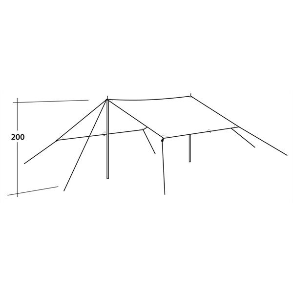 additional image for Easy Camp Tarp - 3 x 3m or 4 x 4m 2021 Model