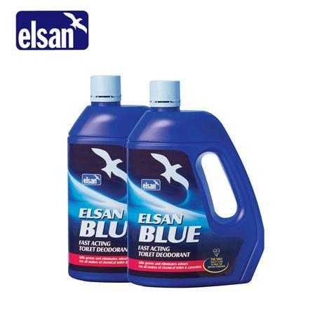 Elsan Toilet Fluid 2 Litres - Blue Twin Pack