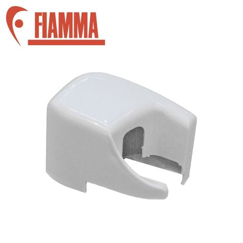 Fiamma Right Hand White Outer End Cap