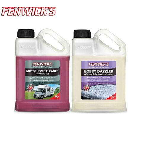 Fenwicks Twin Pack, Motorhome Cleaner 1L & Bobby Dazzler 1L