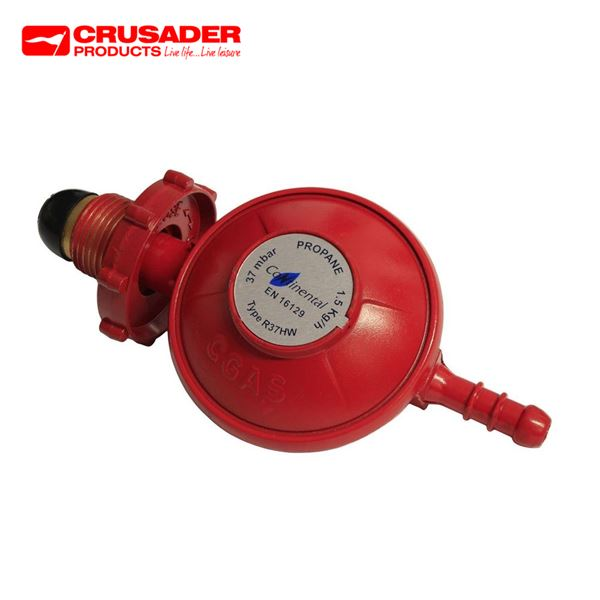 Crusader 37mbar Propane Regulator With Hand Wheel