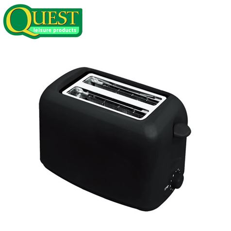Quest Low Wattage 2 Slice Black Toaster
