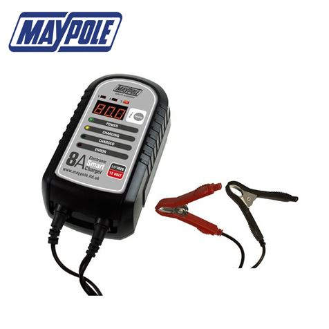 Maypole 8A 12V Smart Battery Charger