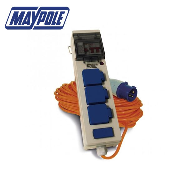 Maypole 3 Way Mobile Mains Power Unit With USB Ports