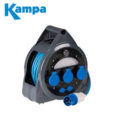 Kampa 3 Way Mains Roller With USB & Light